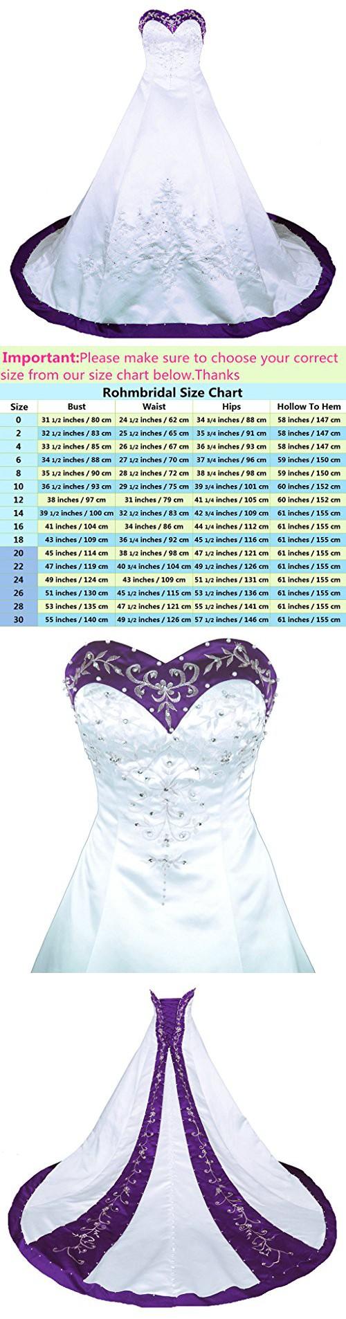 Rohmbridal sweetheart aline wedding dress bridal gown size white