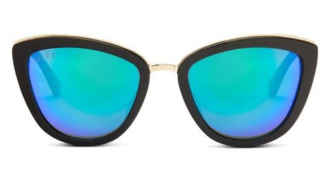 ROSE - MATTE BLACK - BLUE MIRROR LENS - DIFF Eyewear  - 1