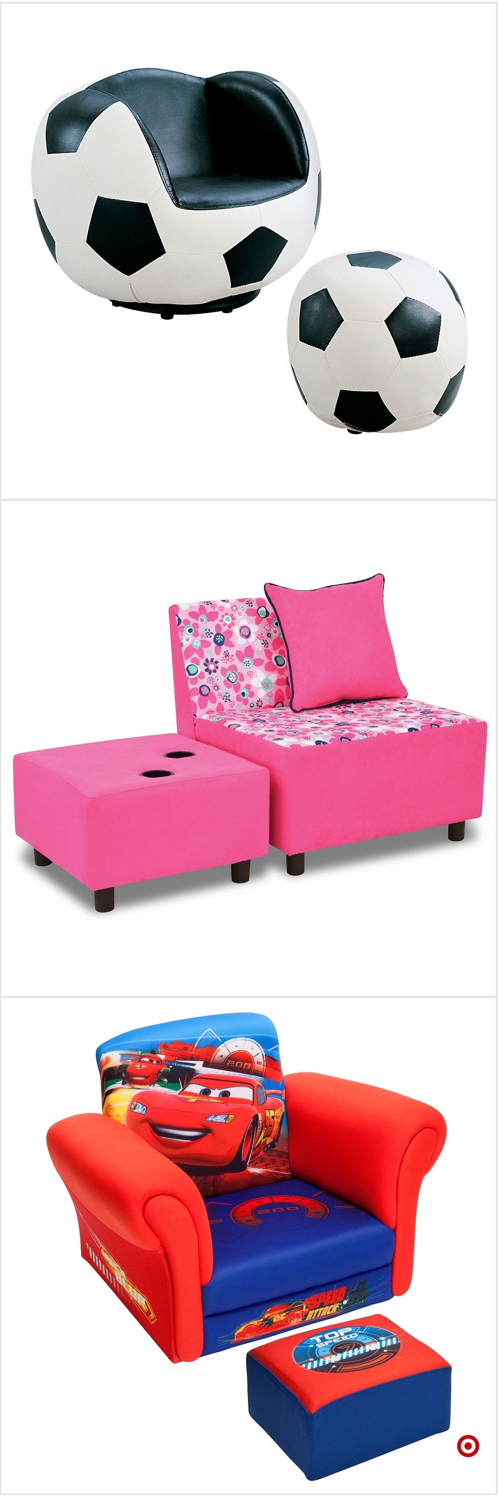 Shop Target for kids upholstered chair and ottoman set you ...