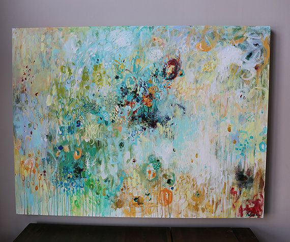 100% hand painted Acrylic painting on gallery wrapped canvas with back staples…