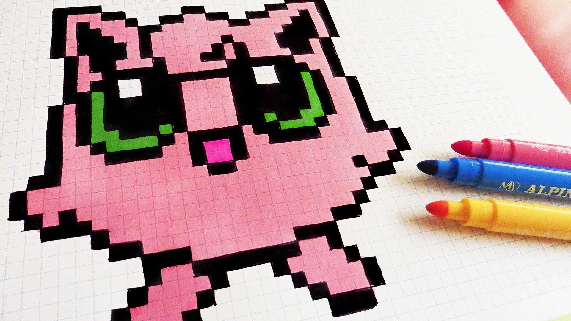 Handmade Pixel Art How To Draw Jigglypuff Pixelart