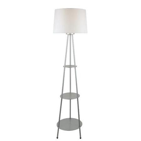 Amazon Com Dastan 1 Light Floor Lamp 3 Tier Shelf With Silver With Off White Fabric Shade Everything Else Lamp Floor Lamp With Shelves Tripod Lamp