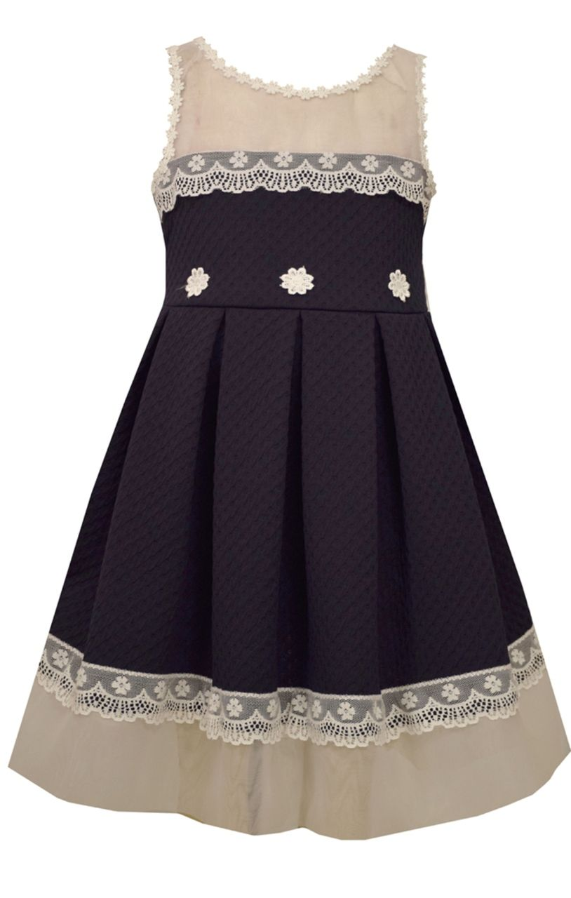Bonnie Jean Easter Special Occasion Big Girls\' Knit To Lace Dress 7-16