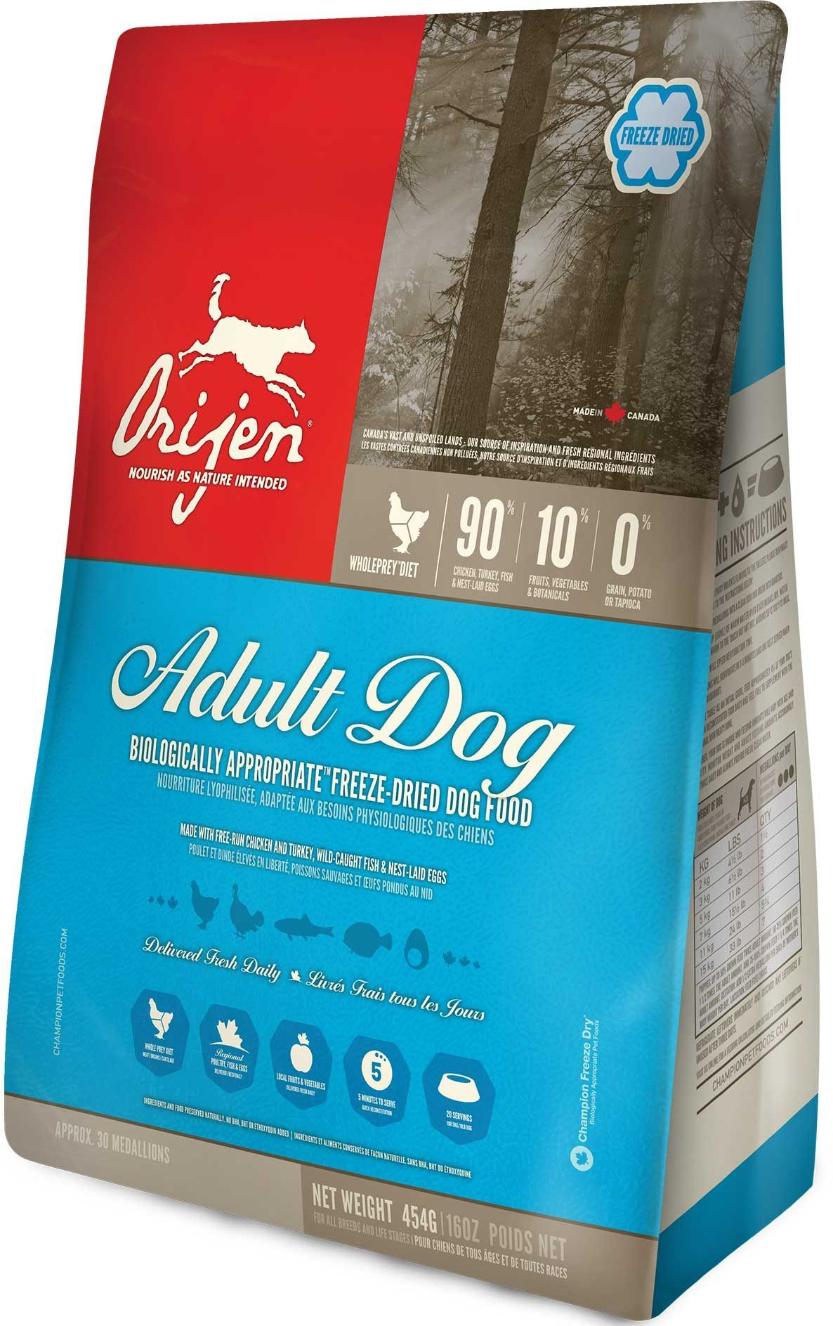 Orijen Adult Dog Freeze Dried Dog Food Recipes Dry Dog Food