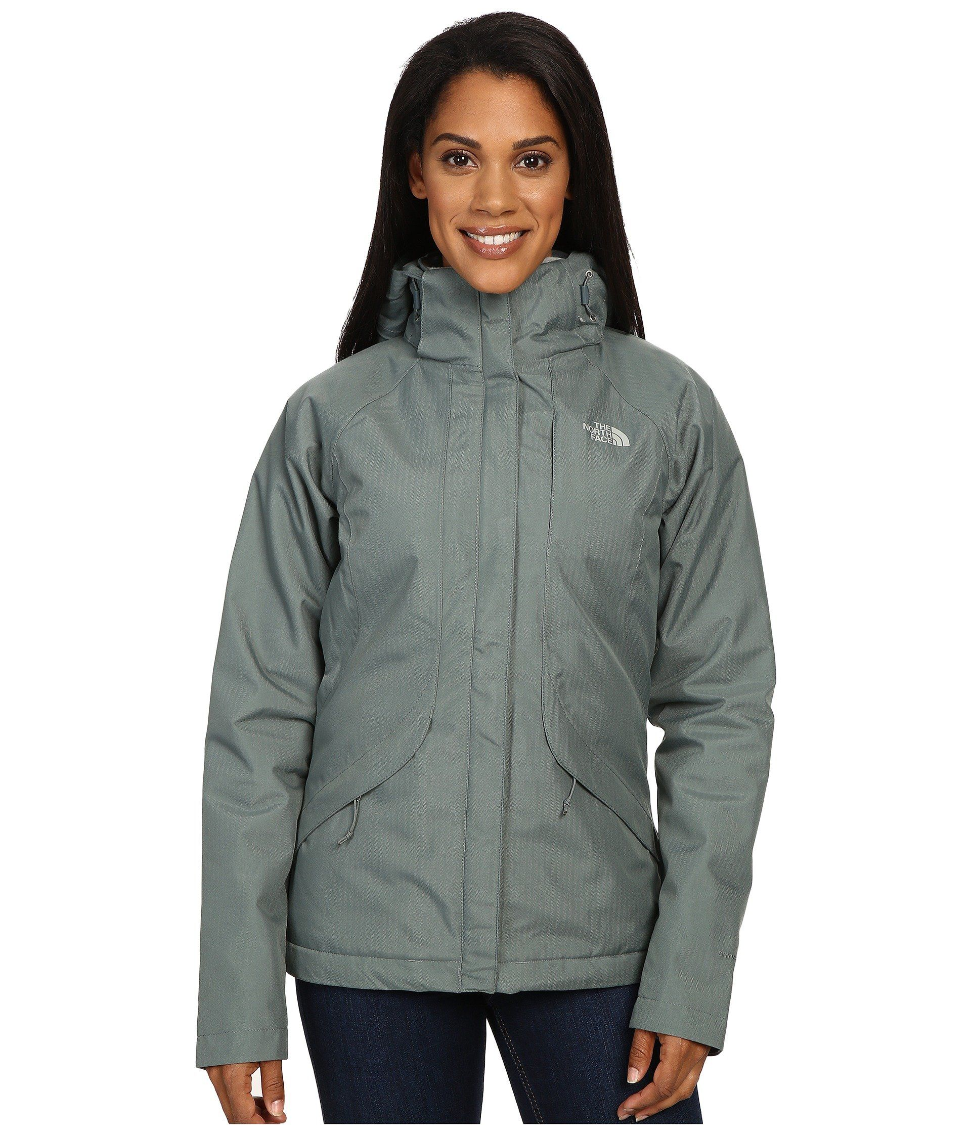 The North Face Inlux Insulated Jacket Women S Balsam Green Large Waterproof Jacket With Lightweight Heatseeke Insulated Jacket Women Insulated Jackets Jackets