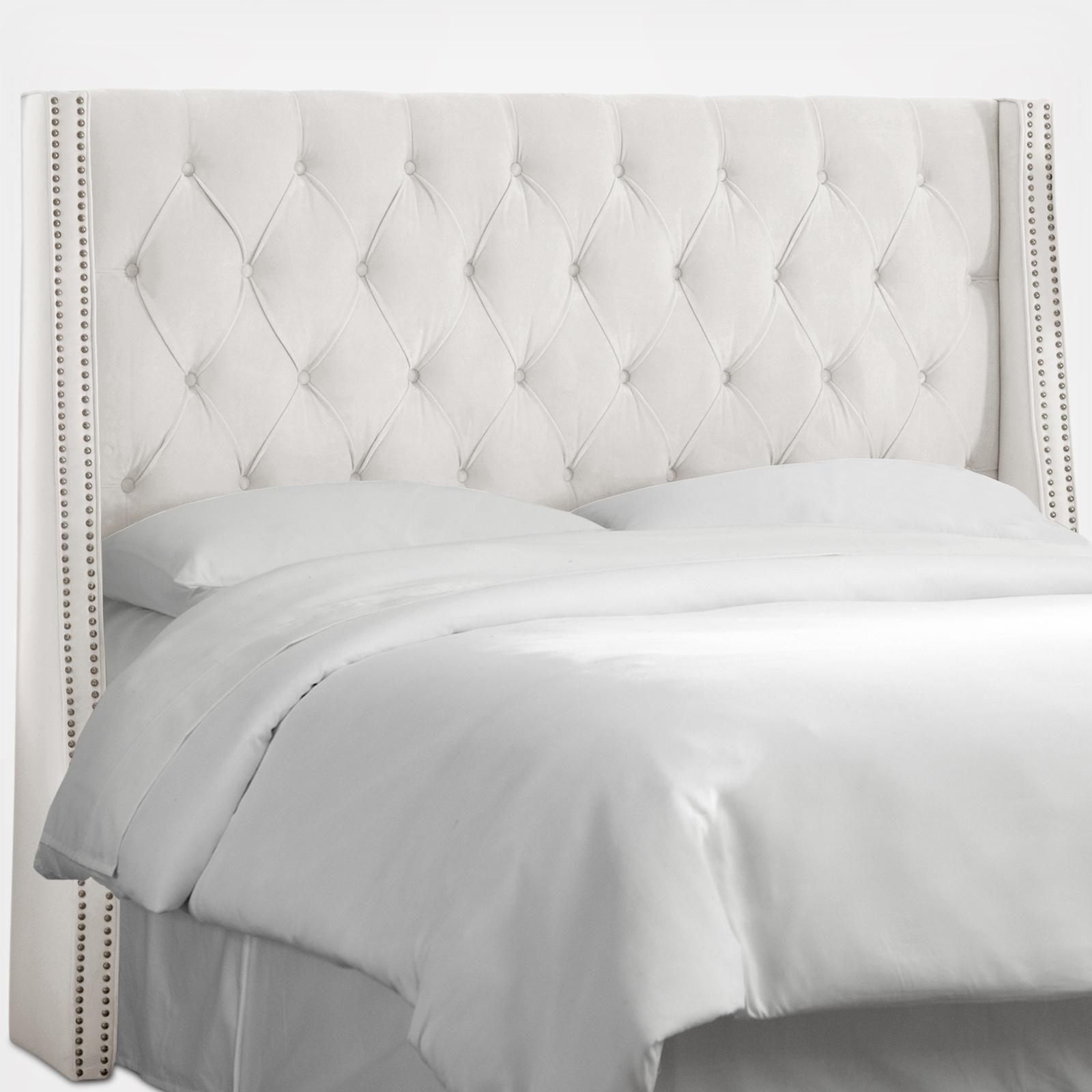 Elegance And Luxury Unite With This Exquisite Nail Button Tufted Wingback Headboard Up Tufted Wingback Headboard Upholstered Headboard King Wingback Headboard