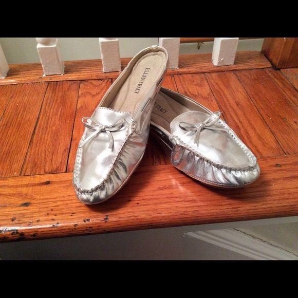 PREZ DAY SALEEllen Tracy Silver Loafers BARELY USED super comfy Ellen Tracy slip ion silver loafers. Ellen Tracy Shoes Flats & Loafers