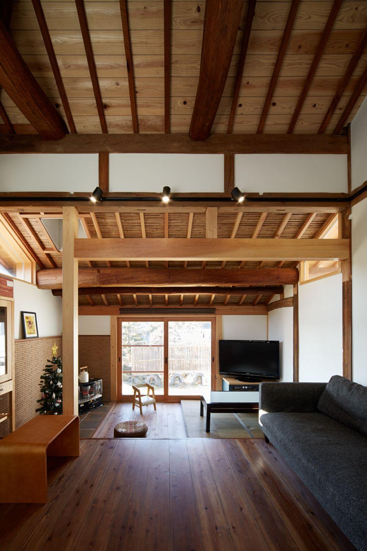 築70年の離れ蔵再生 構造美を生かした再生住宅 岡山県で無垢の木の家