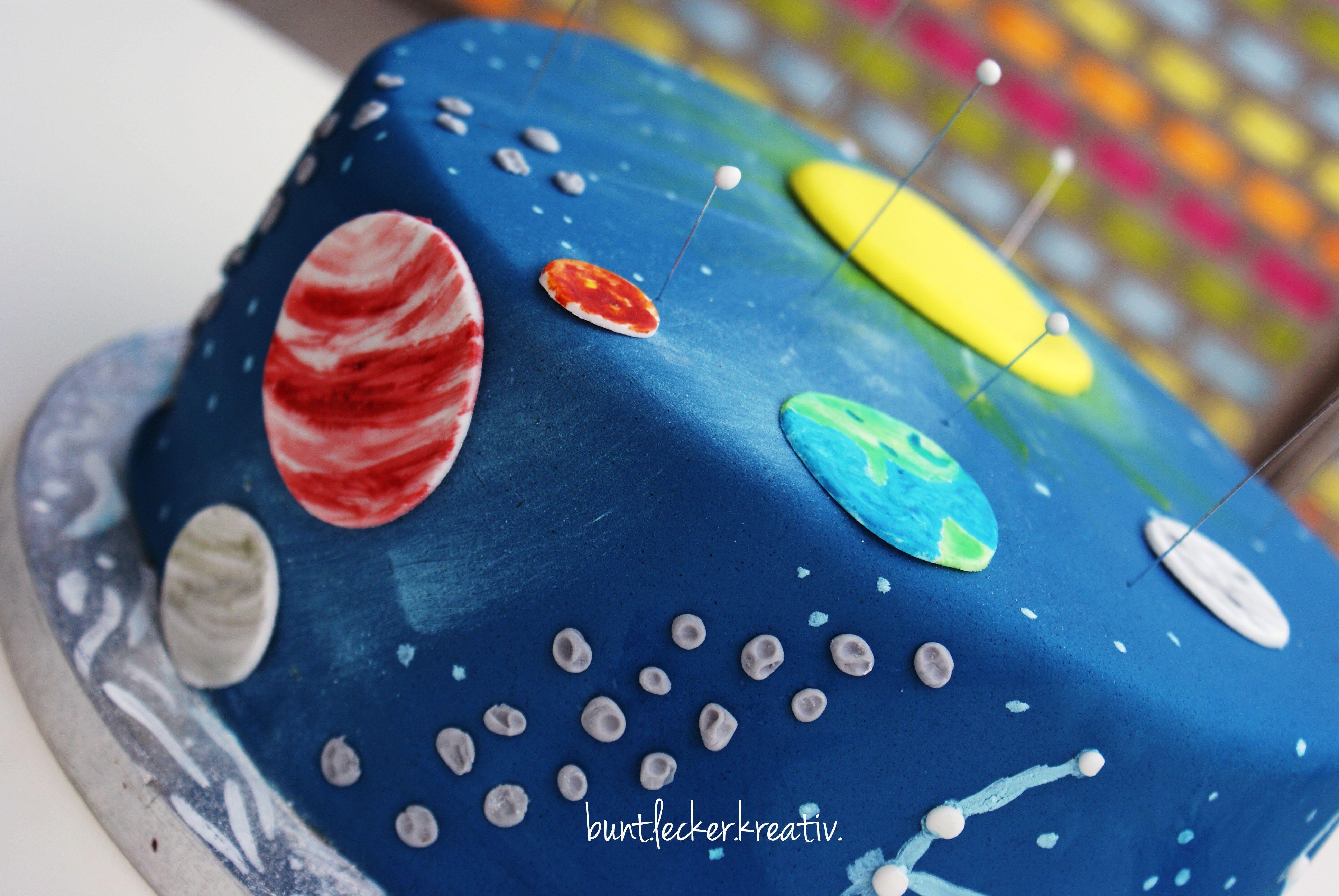 Weltraum Torte Zum Kinder Geburtstag Space Cake For A Kids