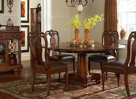 Victorian Manor Round Pedestal Dining Room Furniture Set By Liberty At Whole Brokers Canada The Table Features Four 10