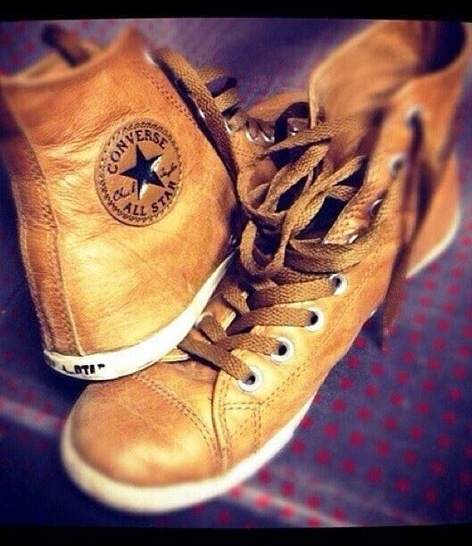 Converse Shoes Brown Leather