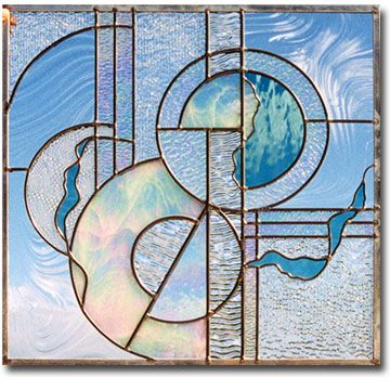 Contemporary Stained Glass Designs - love the airy ...