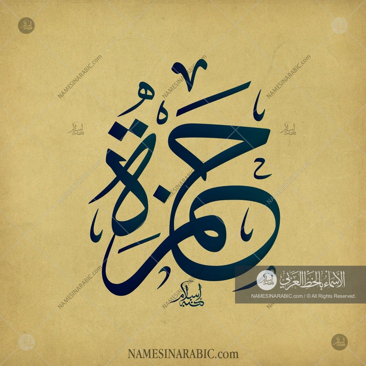 Hamza حمزة Names In Arabic Calligraphy Name 3630 Calligraphy Words Calligraphy Name Arabic Calligraphy