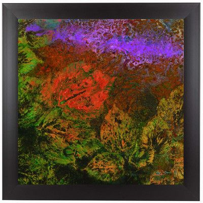 "East Urban Home The Glades B by Jay Zinn Framed Painting Print Size: 13.5"" H x 13.5"" W x 1"" D"