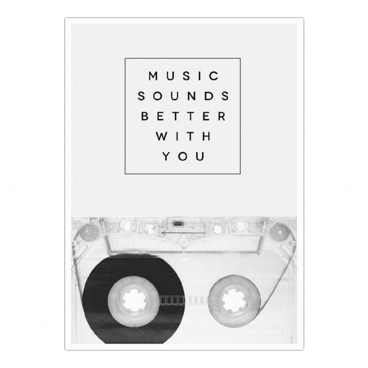 """Wallpaper """"Music Sounds Better With You"""" by Galaxy Eyes"""