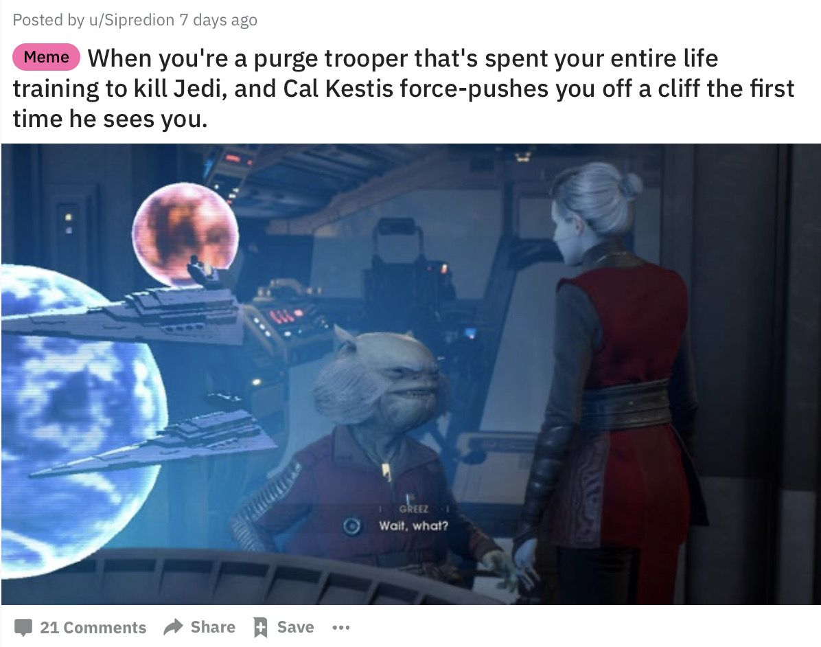 I M Trash Just Not Approved Trash Star Wars Fallen Order Star Wars Humor Star Wars Fandom
