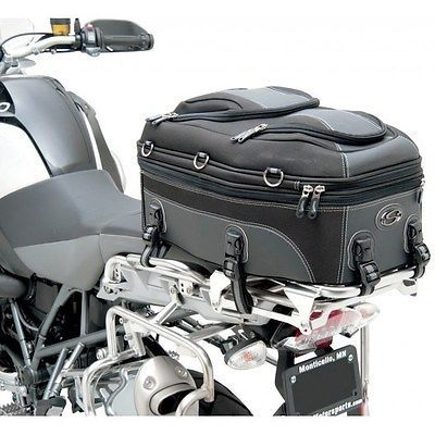 Motorcycle Luggage Rack Bag Custom Saddlemen Ap2350 Pillion & Rear Rack Bag  Universal Adventure Review