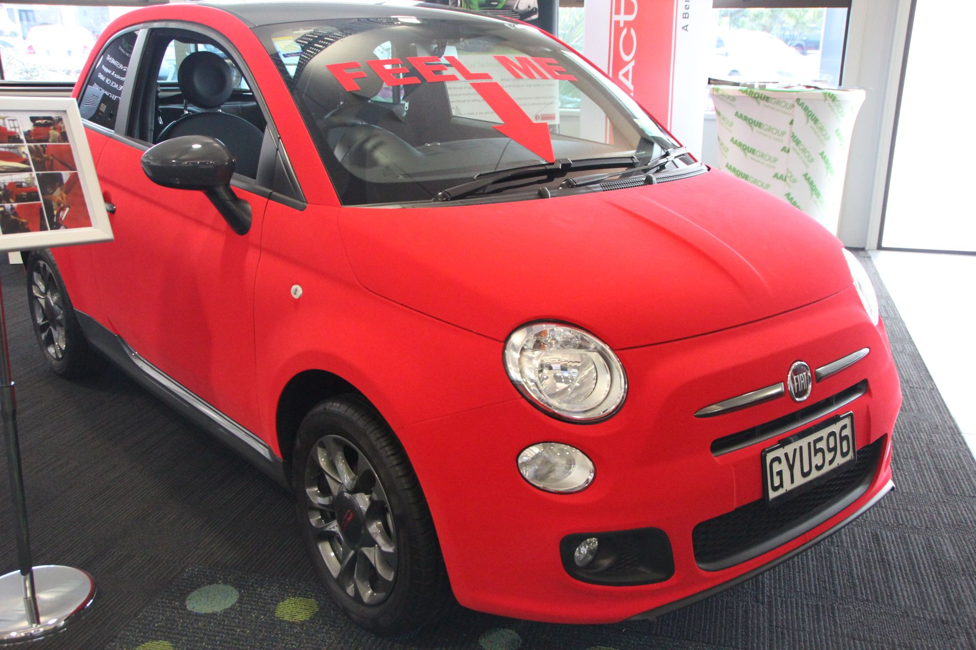 Fiat 500 Entirely Wrapped With Tuningfilm Velvet Red More On Www