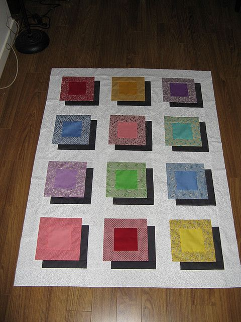 Boxes And Shadows 1 Quilt Top Optical Illusion Quilts