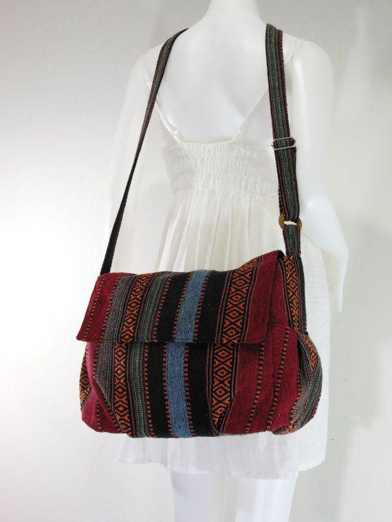 USA SHIPPING** Handbag Hippie Hobo Crossbody Messenger Boho Bag Hmong Camera Purse Nepali Cotton E-HMM01 #camerapurse
