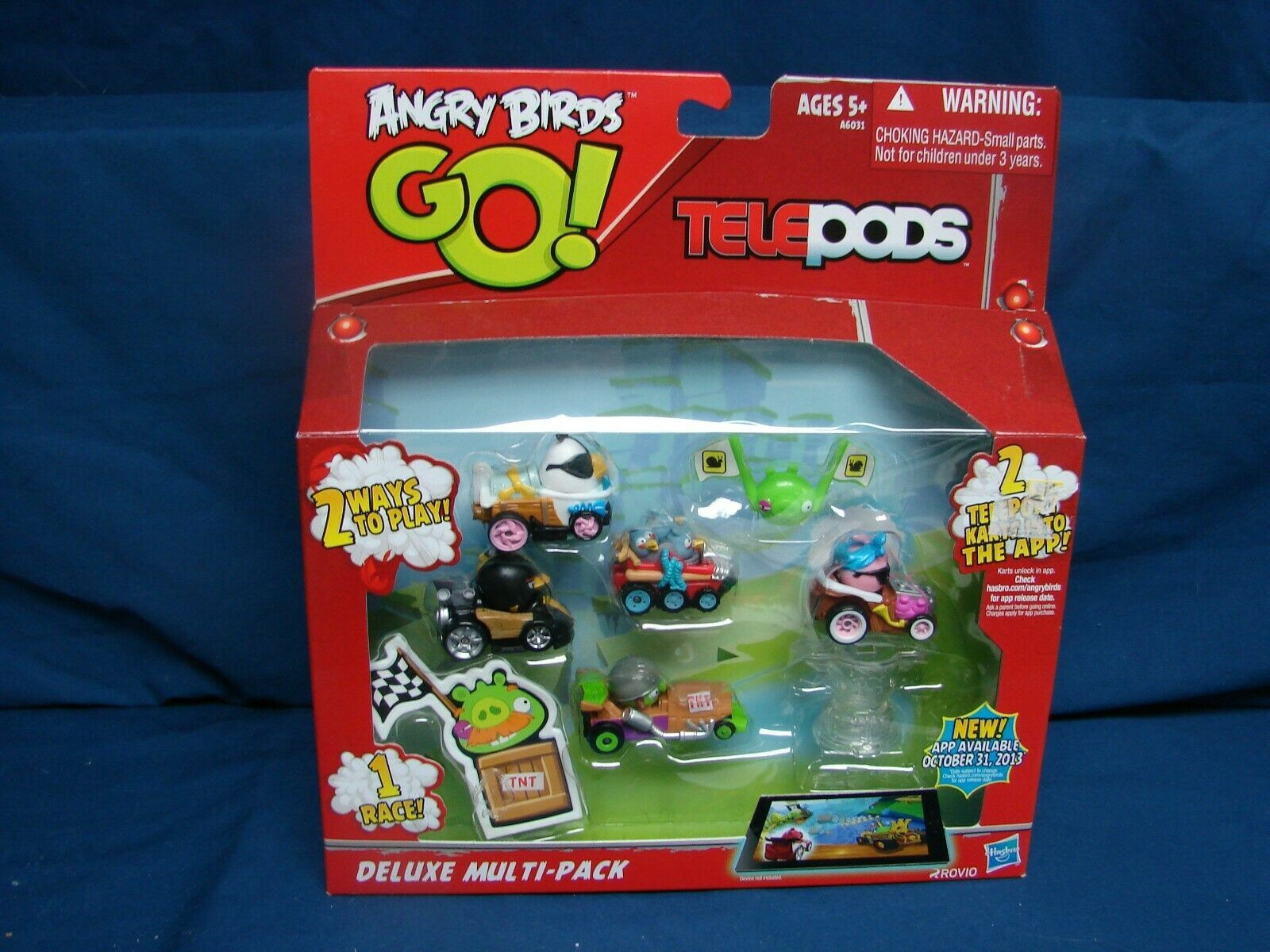 New Deluxe Angry Birds Go Telepods Multi Pack Kart Hasbro Exclusive