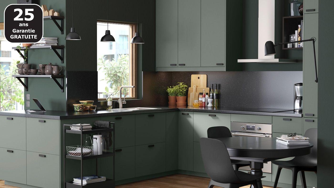 Cuisines Metod Finition Bodarp Vert Ikea Cuisine Ikea Interieur De Cuisine Designs De Petite Cuisine