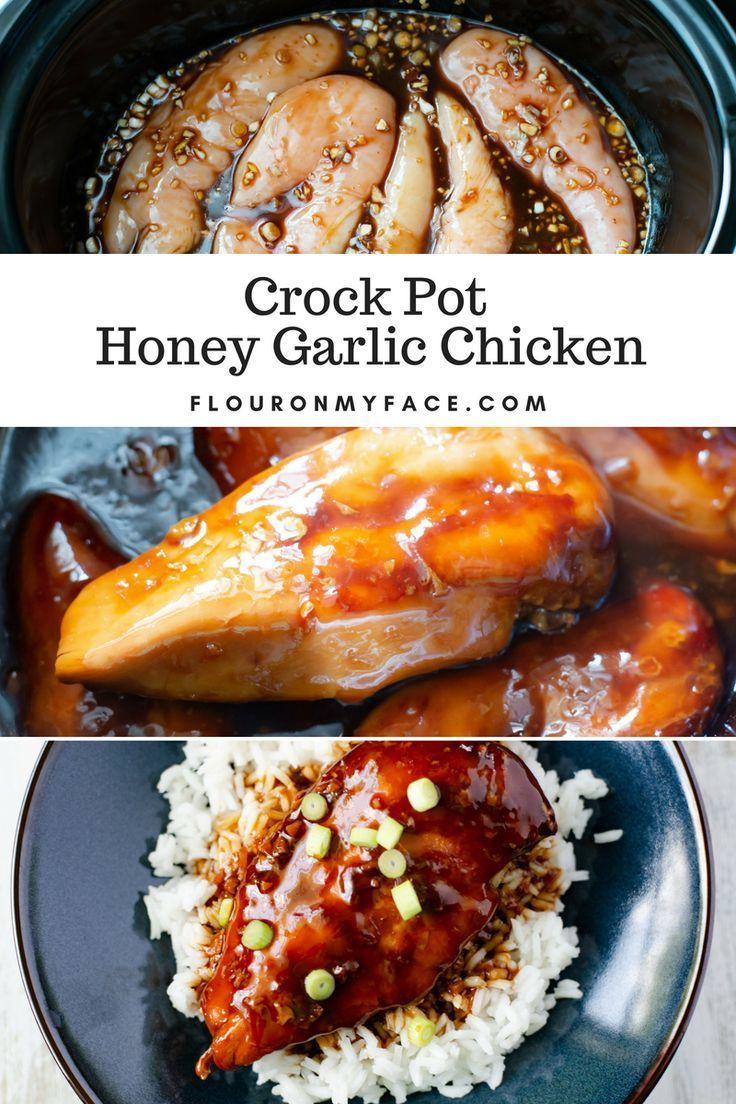 Crock Pot Honey Garlic Chicken Breasts -  Crock Pot Honey Garlic Chicken recipe  -