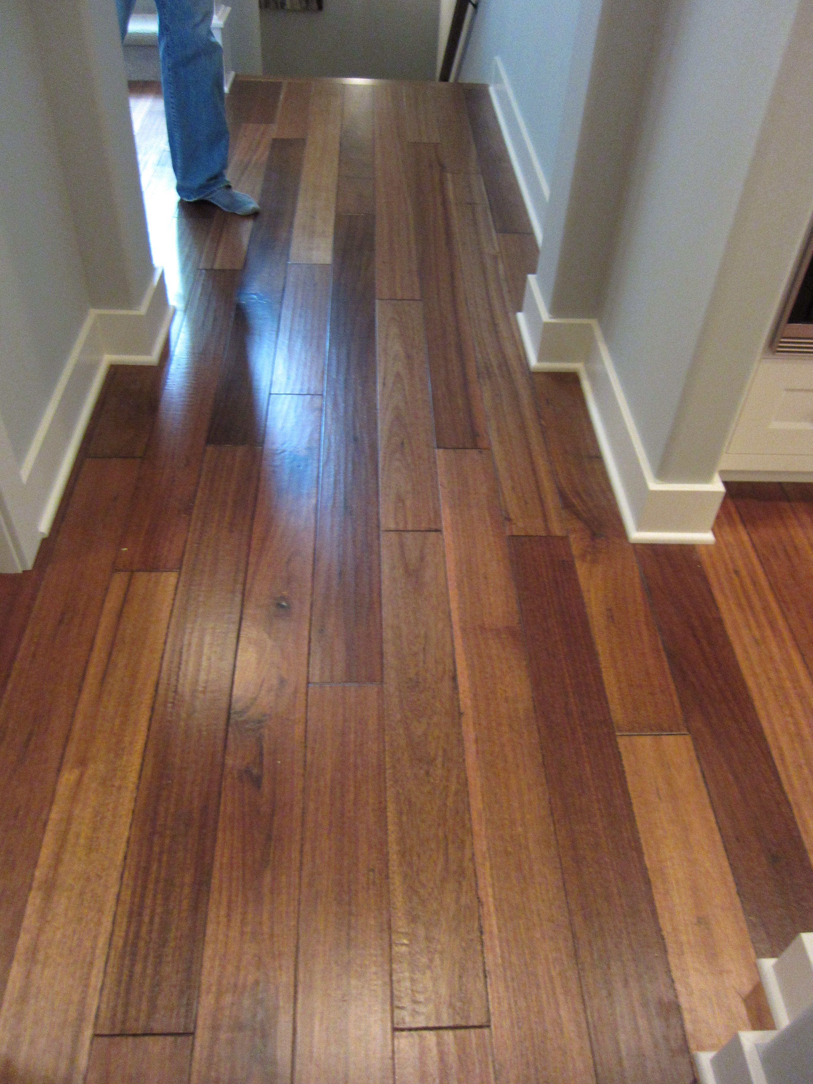 two tone floor idea Wooden design, House flooring, Flooring