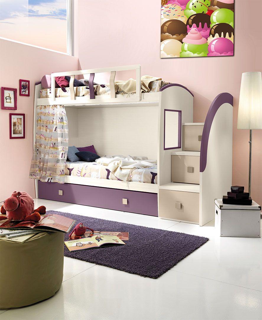 Camerette con letti a castello cm39 giessegi bedroom bedroom sweet home e home decor - Camerette a soppalco ikea ...