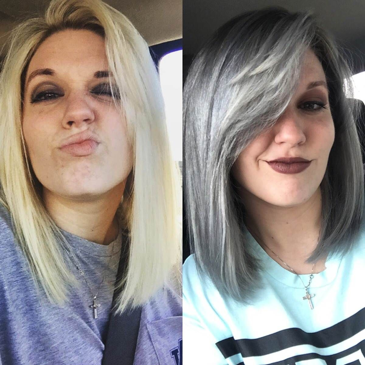 Pictures Of Grey Marble Bathrooms: I Dyed My Hair Grey And Here's What Happened