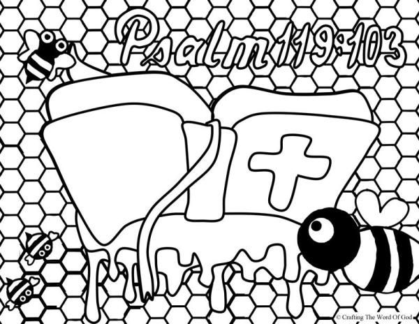 Your Word Sweeter Than Honey (Coloring Page) Coloring pages are a ...