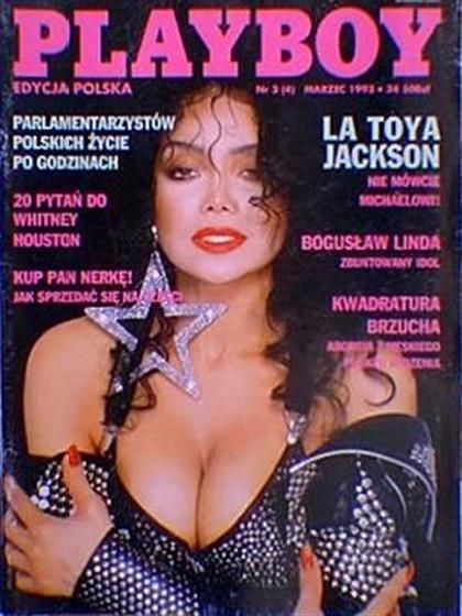 Playboy (Poland) March 1993  with LaToya Jackson on the cover of the magazine
