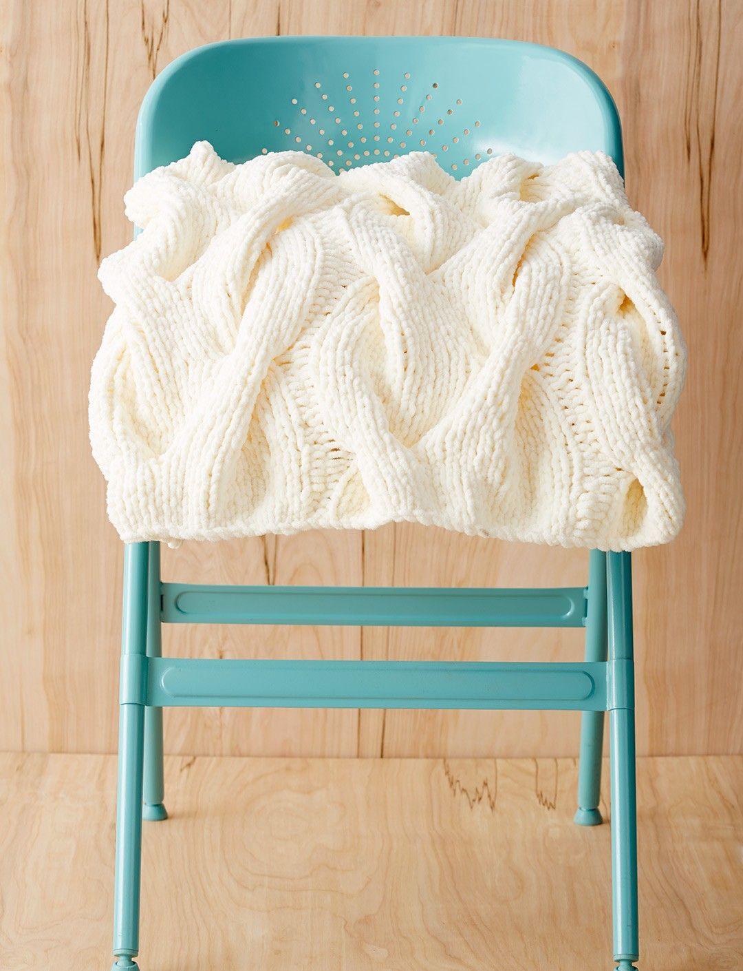 Yarnspirations.com - Bernat Cozy Cables Blanket - Patterns ...