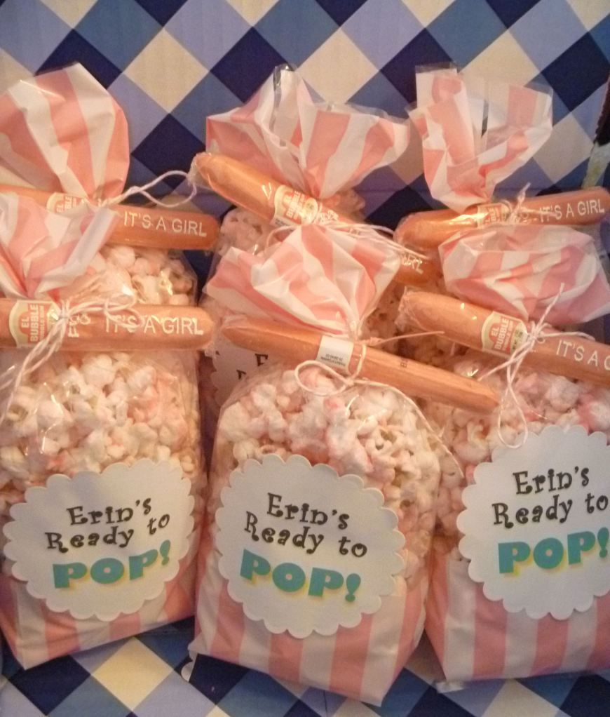 easy party favor bags not pink but cigar can be or get real ones