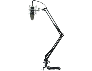 This Is An Image For The Icon Mb 03 Desk Mount Scissor Style Microphone Stand Microphone Stand Desk Microphone