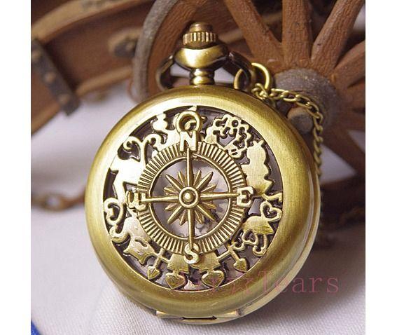 Vintage Alice Wonderland Pocket Watch Necklace