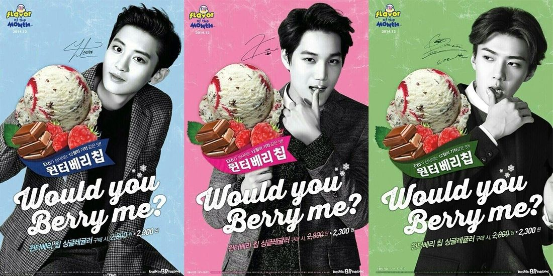 EXO-K endorses Baskin Robbins with a cheerful Christmas CF