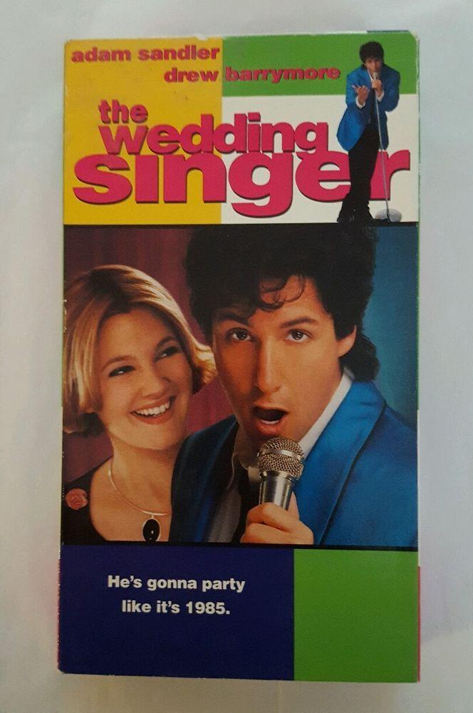 Movie The Wedding Singer VHS 1998 Adam Sandler Drew Barrymore