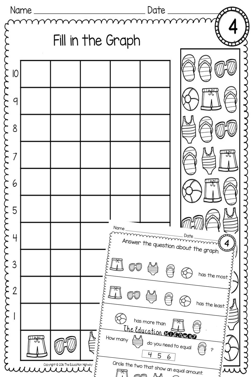 Free Count And Graph Within 10 Perfect Math Practice For Kindergarten And First Graders 4 Graphs To Count And Fill In Graphing Math Sort Free Math Resources [ 1440 x 960 Pixel ]