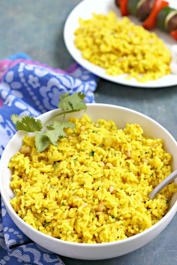 Mediterranean Yellow Rice - Veggies Save The Day