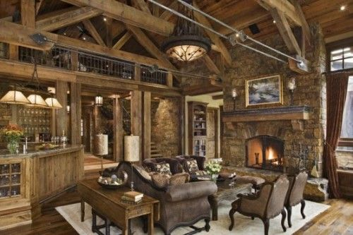 Wohnzimmer ideen rustikal  20 Rustic Living Room Design Ideas | Shelterness | Home Décor ...
