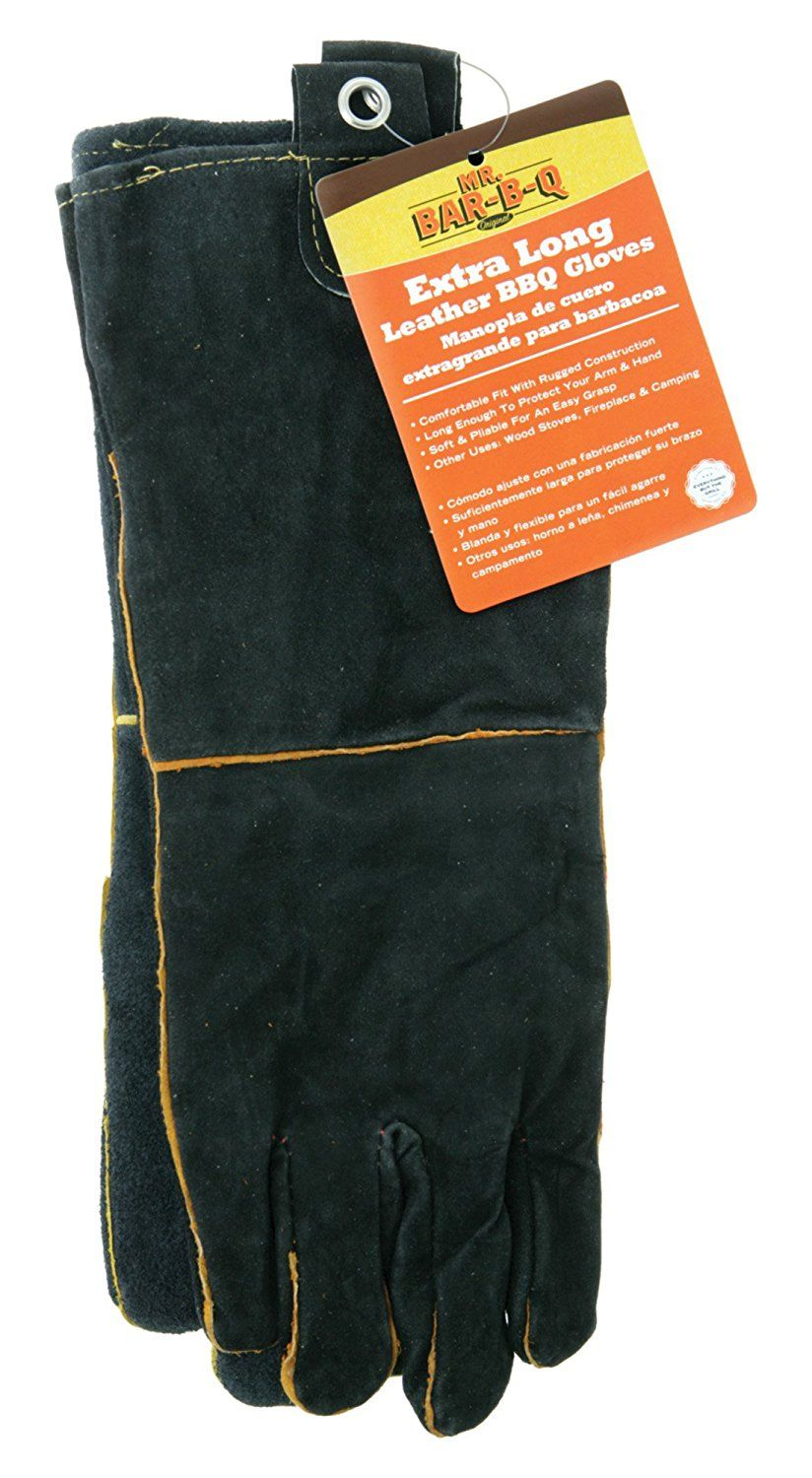 Mr barbq 40113x leather barbecue gloves hurry
