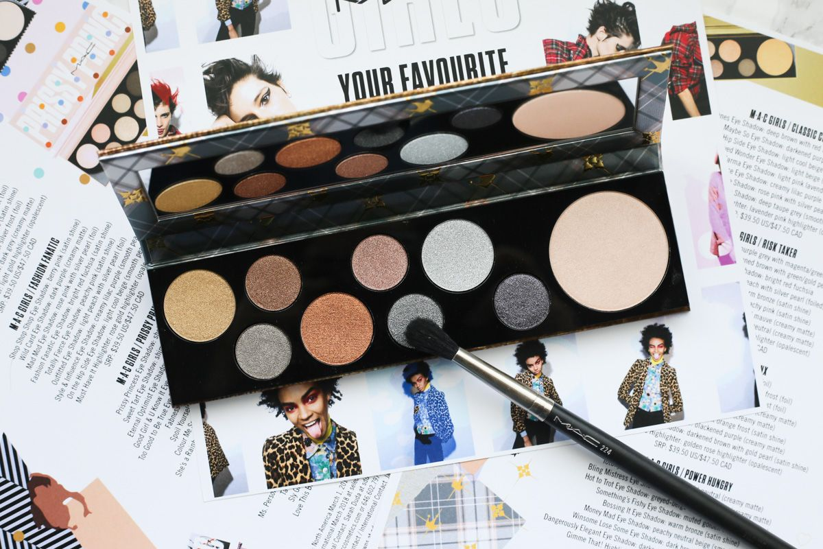 Make Up Stoel : Mac girls palette review swatches must have makeup products