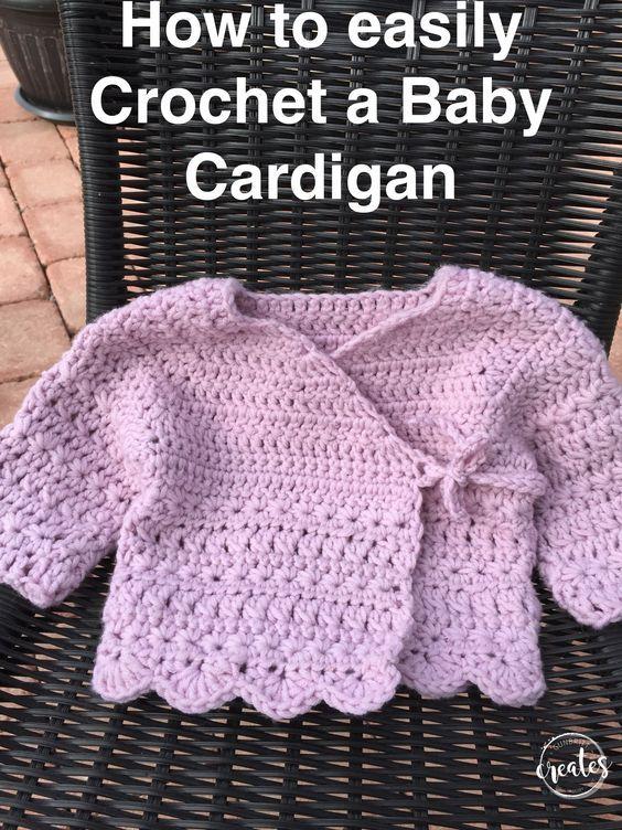Cardigan for Babies - Free Crochet Pattern | Free crochet, Crochet ...
