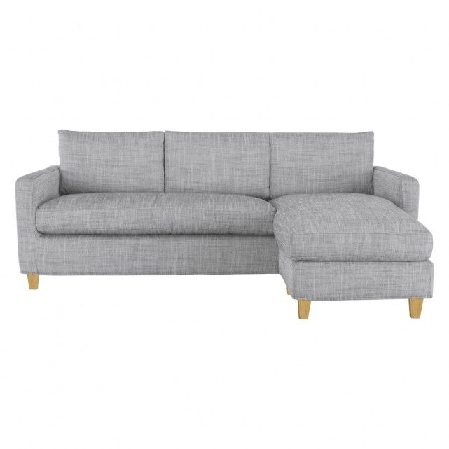 Chester Black White Italian Woven Fabric 3 Seat Chaise Sofa Chaise Sofa Habitat Furniture Corner Sofa