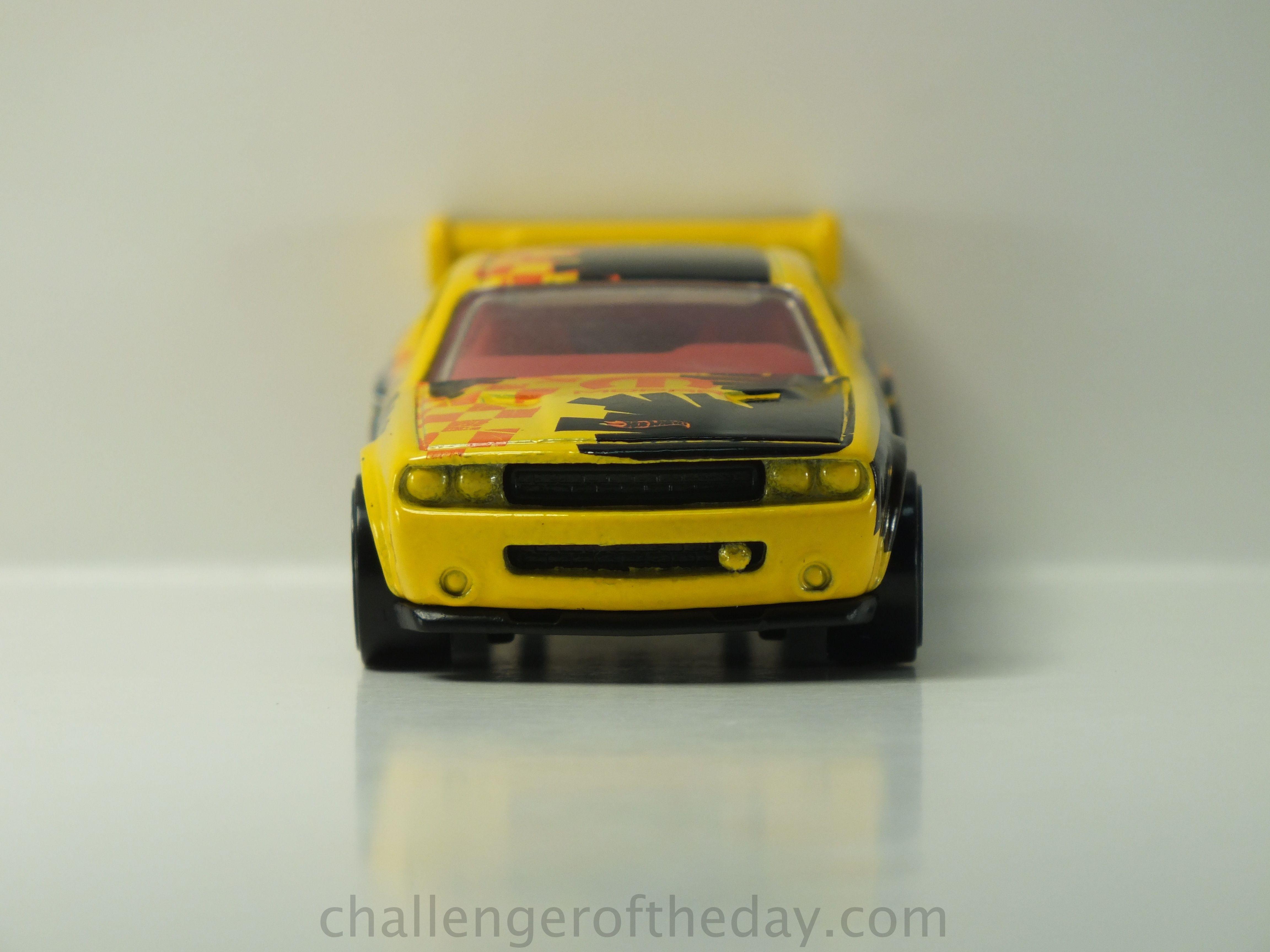 Hot wheels dodge challenger drift car yellow