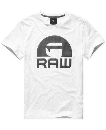 G Star Raw Men's Logo T Shirt, Created for Macy's Green