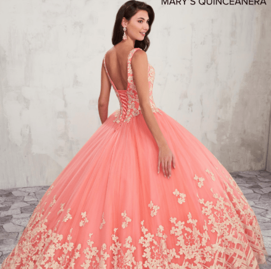 2f9c014c05 Coral Quinceanera Dresses You Have to Try On - Quinceanera