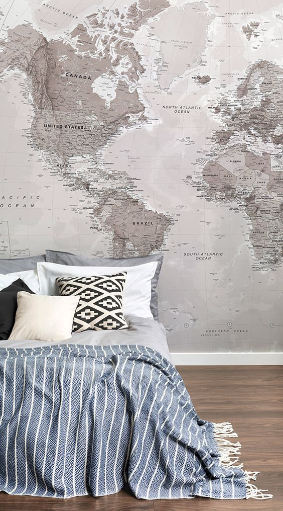 Neutral shades world map wallpaper mural shops murals and the ojays neutral shades world map wallpaper mural gumiabroncs Image collections