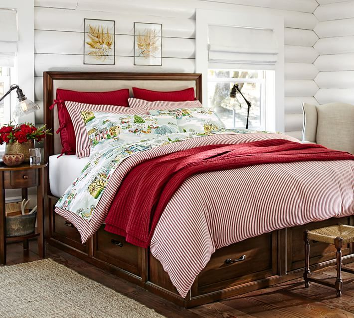 Julia Bedside Table Bed frame with drawers, Platform bed